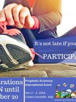 Prophetic Economy Event: prorrogadas as inscrições para 20 de outubro