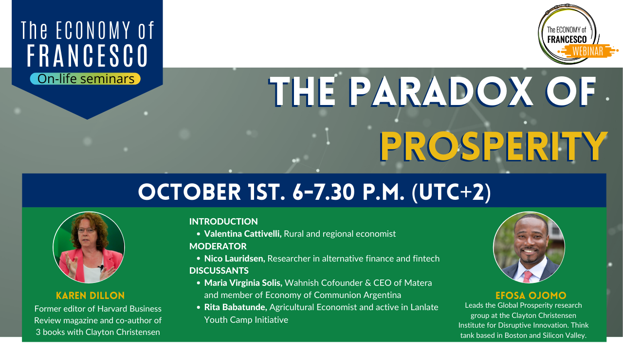 #EoF webinar - The paradox of prosperity