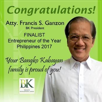 Congrats Bangko Kabayan rid