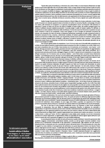 Prefazione Microfinanza di Stefano Zamagni