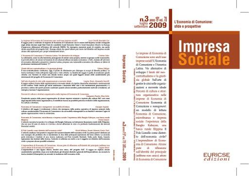 Impresa Sociale 2009 03 Numero speciale su Economia di Comunione