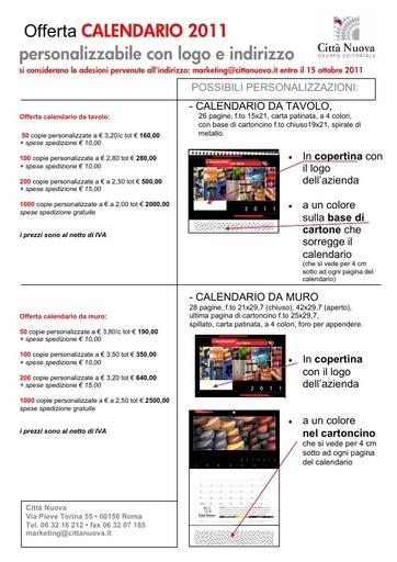 Offerta CALENDARIO EdC 2011