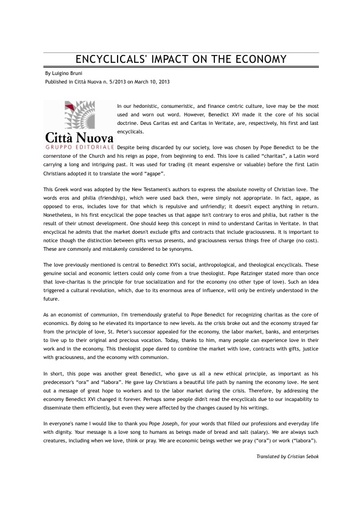 130310_CN_The_Encyclicals_Impact_On_The_Economy_Bruni