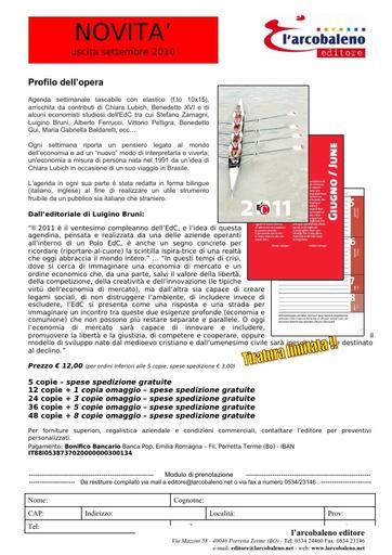 scheda editoriale - Agenda EdiC - prenotazione