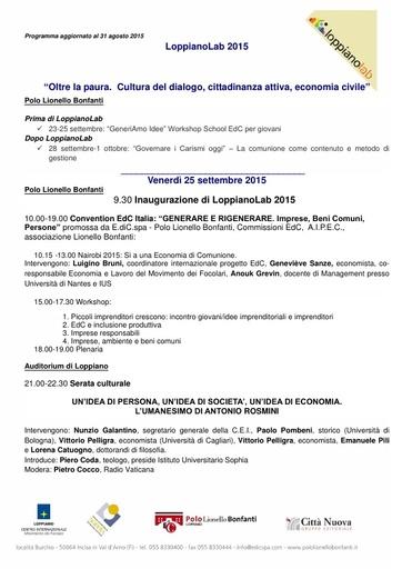 LoppianoLab 2015 programma