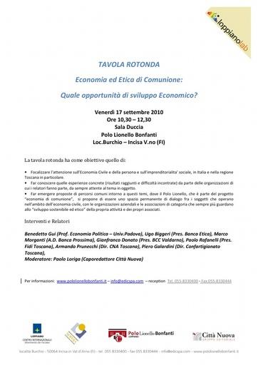 100917_Tavola rotonda Economia e etica di comunione_FOCUS