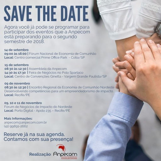 SAVE THE DATE   Eventos 2018