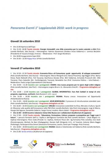 Eventi Loppianolab
