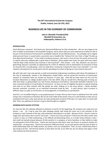 120614_IEC_Business_Life_in_the_Economy_of_Communion__J_Mundell