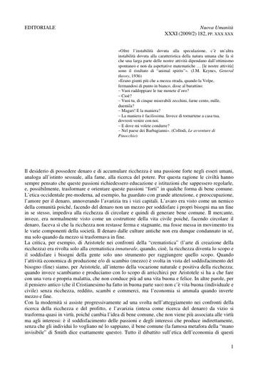 Nuova Umanità 2009-02 Bruni