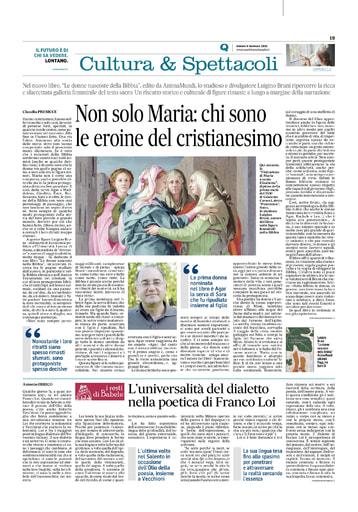 200109-Quotidiano di Puglia-Le donne nascoste nella Bibbia
