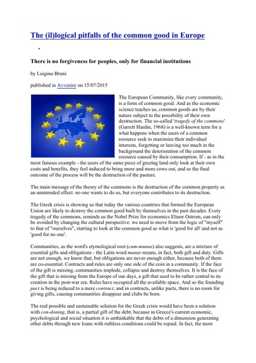 150715_Avvenire_The (il)logical pitfalls of the common good in Europe