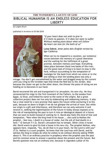 180603 Avvenire The Wonderful Laicity of God Bruni 1